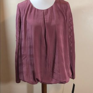 Alyx NWT mauve pink cable sleeve blouse
